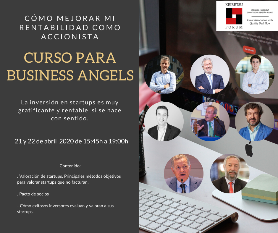 Curso para inversores privados en startups Business Angels