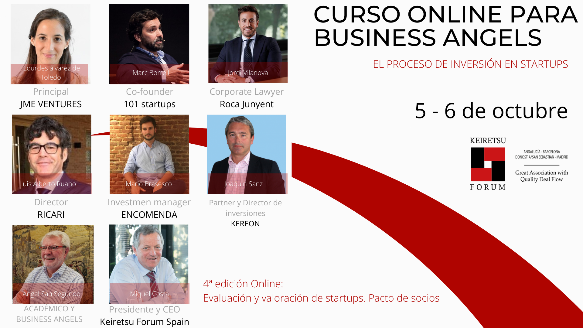 Curso para inversores Business Angels Keiretsu Forum