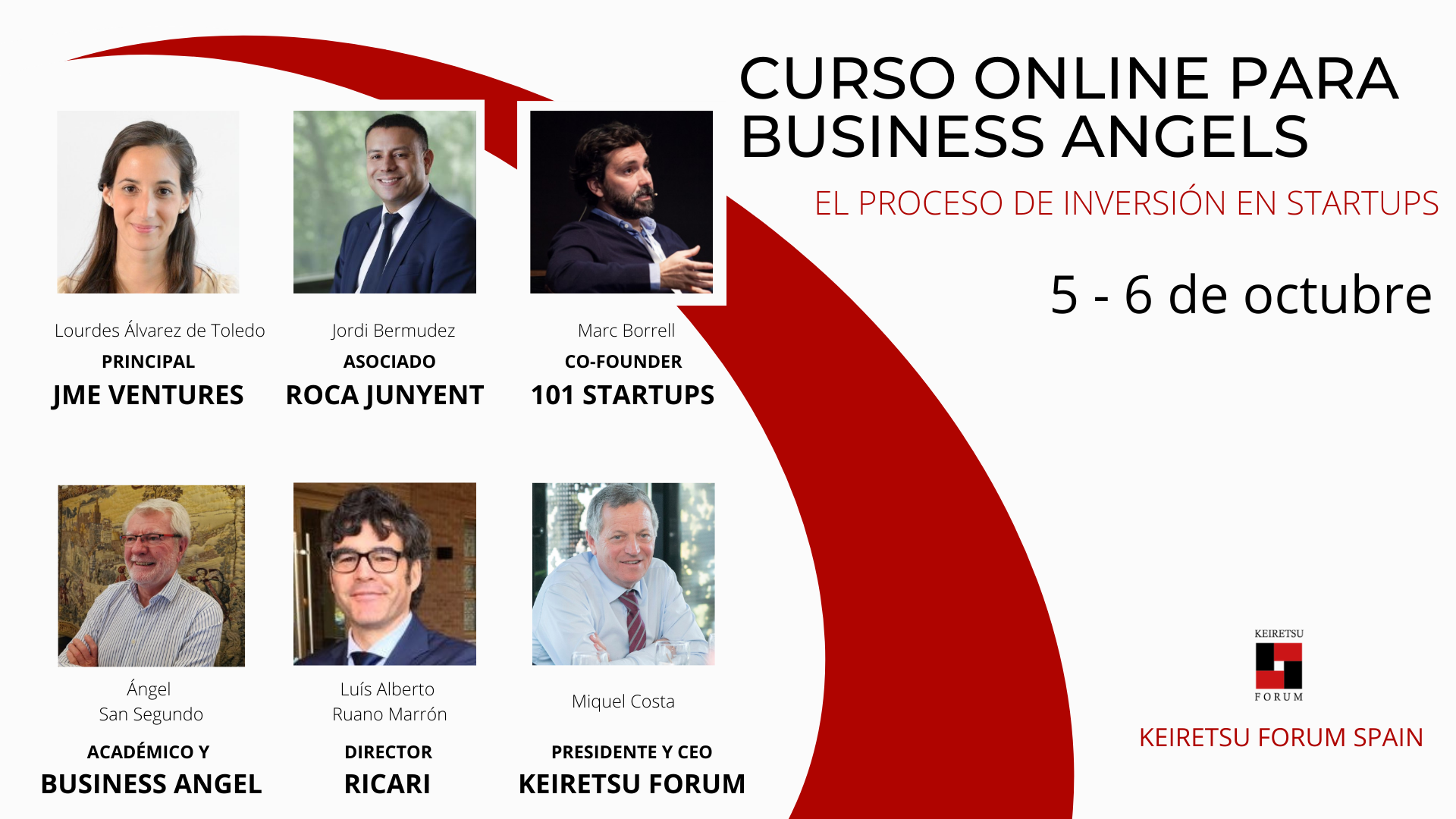 Curso para inversores privados Business Angels Keiretsu Forum