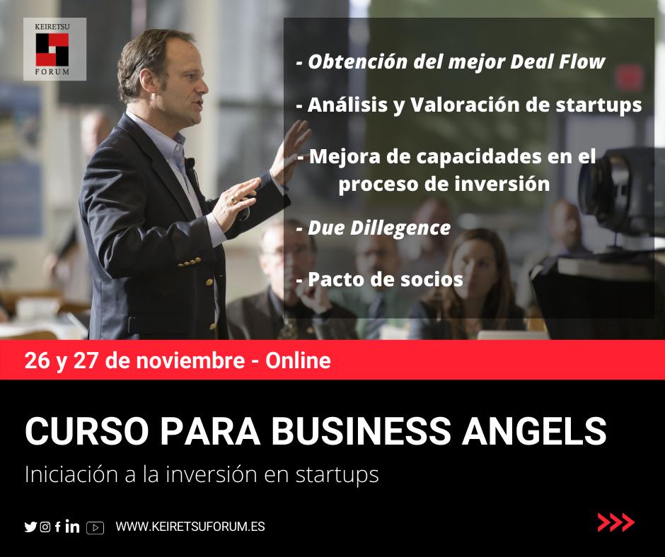 Carátula del Curso para Inversores Privados Business Angels